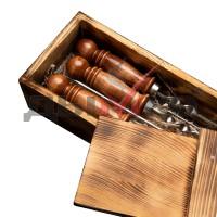 Набор шампуров в коробке