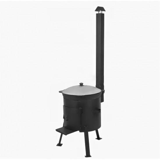 Казан 10 литров  + печь с трубой и дверцей