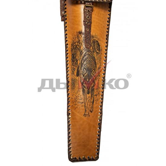 Чехол широкий, натуральная кожа, с карманом для ножа