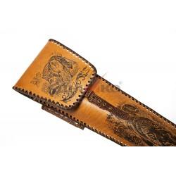 Чехол широкий, натуральная кожа, полностью с рисунком
