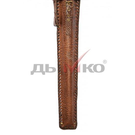 Чехол узкий, натуральная кожа, с лазерным рисунком