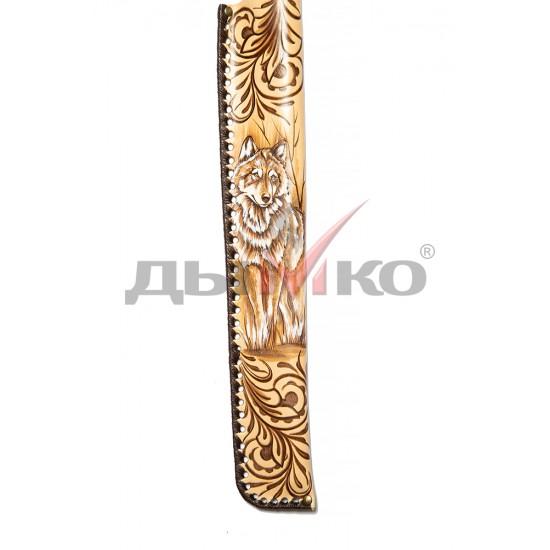 Чехол, натуральная кожа, Робин Гуд с рисунком