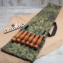 Набор в камуфляжном чехле с деревянной ручкой (6 шампуров) 500*12*3