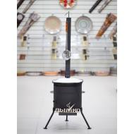 Казан 8 литров + печь с трубой и дверцей
