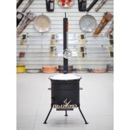 Казан 12 литров + печь с трубой и дверцей