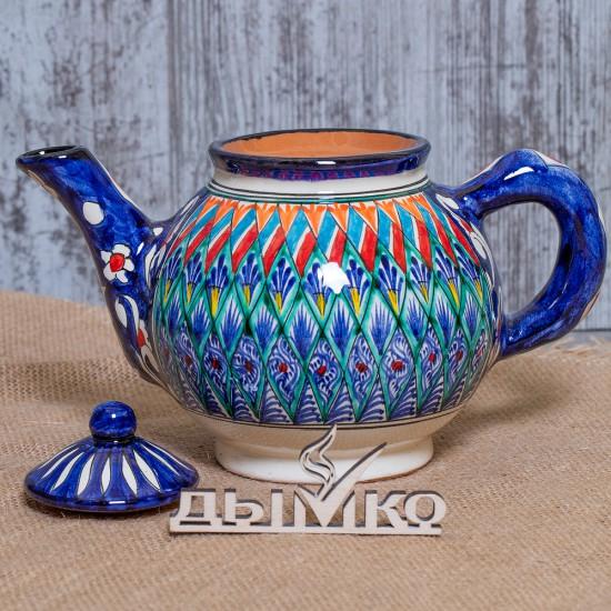 Чайник синий 1 л. Риштан
