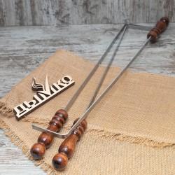 Кочерга с деревянной ручкой 500*12*3