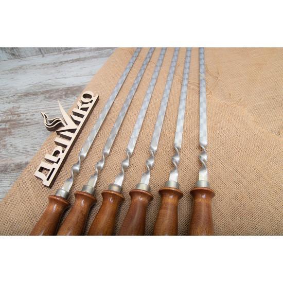"""Шампур с деревянной ручкой """"Енисей"""" 500*12*3"""