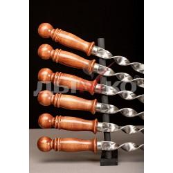 Шампур для люля-кебаб с деревянной ручкой 500*20*3