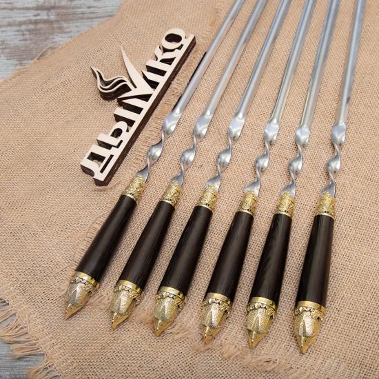 """Шампуры с деревянной стандартной ручкой и литьем """"Орел"""""""