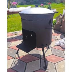 Казан 10 литров + печь без трубы и дверцы